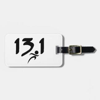 13.1の半マラソン ラゲッジタグ