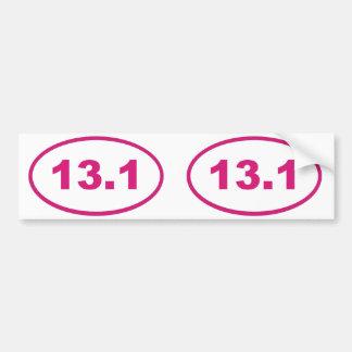 13.1ピンクのマゼンタ バンパーステッカー