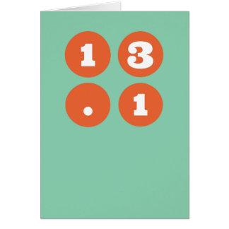 13.1半分のマラソン カード