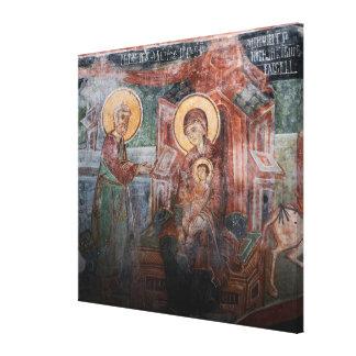 14世紀なセルビア教会からのフレスコ画、2 キャンバスプリント