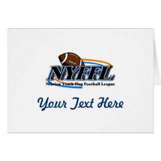 14以下のNfusionの青年フラグフットボールNyffl カード
