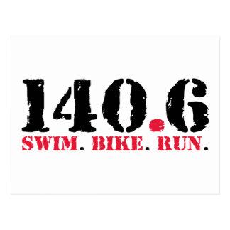 140.6水泳のバイクの操業 ポストカード
