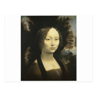 1476年のDa Vinci頃Ginevra de Benciのポートレート ポストカード