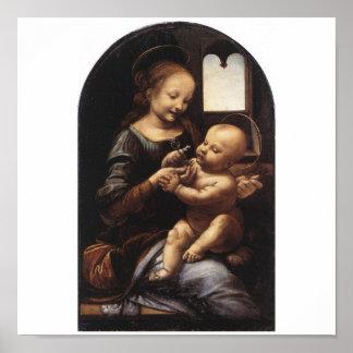 1478年頃レオナルド・ダ・ヴィンチ著Benoisマドンナ ポスター