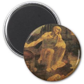 1481年頃レオナルド・ダ・ヴィンチ著St Jerome マグネット