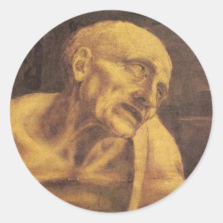1481年頃レオナルド・ダ・ヴィンチ著St Jerome ラウンドシール