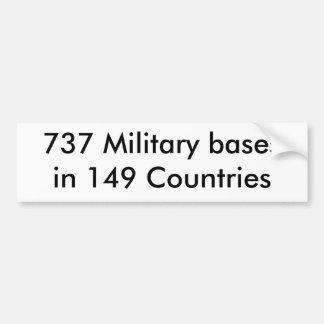 149ヶ国の737の軍用基地 バンパーステッカー