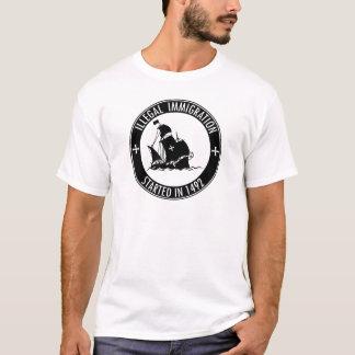 1492年に始まる不法移民 Tシャツ