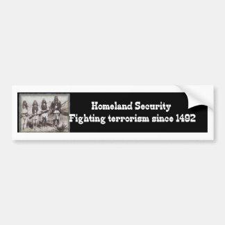 1492年以来の自国の保安の戦いのテロリズム バンパーステッカー