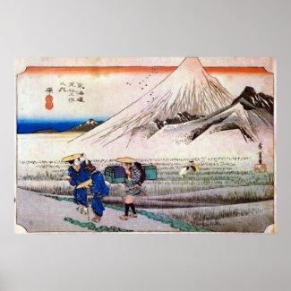 14. 原宿、広重Hara-juku、Hiroshige、Ukiyo-e ポスター