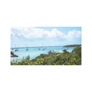 14x11キャンバスのプリント-島に貯蔵するバハマ キャンバスプリント
