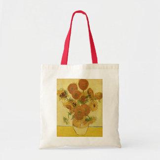 15のヒマワリが付いているつぼ、ゴッホのファインアート トートバッグ