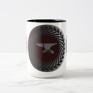15のozのツートーンマグを-金敷及びハンマー黒くして下さい ツートーンマグカップ