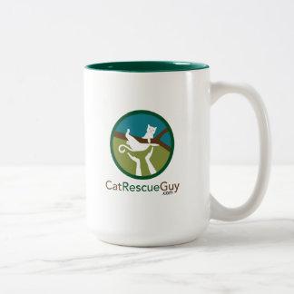15のozのロゴの前部および背部 ツートーンマグカップ