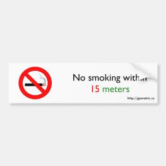 15メートル以内に禁煙 バンパーステッカー