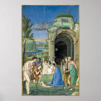 1500年頃羊飼いの崇敬、 ポスター