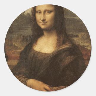 1505-1513年頃レオナルド・ダ・ヴィンチ著モナ・リザ ラウンドシール