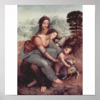1510年頃レオナルド・ダ・ヴィンチの絵画 ポスター