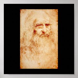 1510-1515年頃レオナルド・ダ・ヴィンチの自画像 ポスター