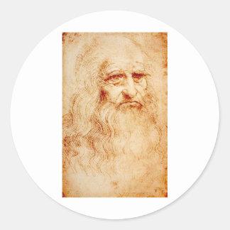 1510-1515年頃レオナルド・ダ・ヴィンチの自画像 ラウンドシール