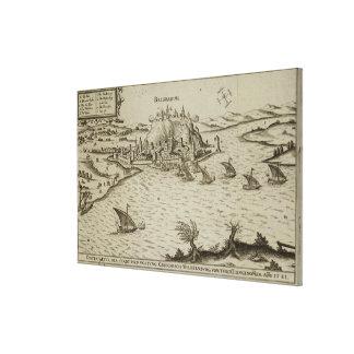 1521年にトルコ人へのベオグラードの秋、illustr キャンバスプリント