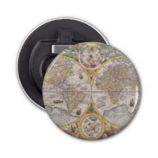 1525年からの中世世界地図 栓抜き