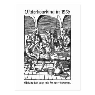 1556年にWaterboarding ポストカード