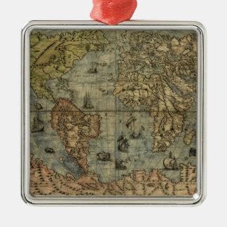 1565年のFerando Berteli (フェルナンドBertelli)の世界地図 メタルオーナメント