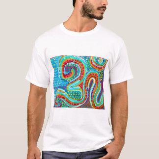 158のスタイル255はOMの信念のOMmantraのヨガのギフトを着色します Tシャツ