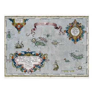 1584アゾレスの地図 ポストカード