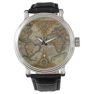 1590年の世界地図 腕時計