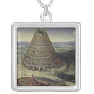 1594年バベルの塔 シルバープレートネックレス