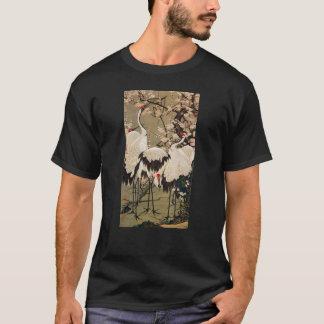 15. 梅花群鶴図、若冲のプラムは及びクレーン、Jakuchū活気付きます Tシャツ