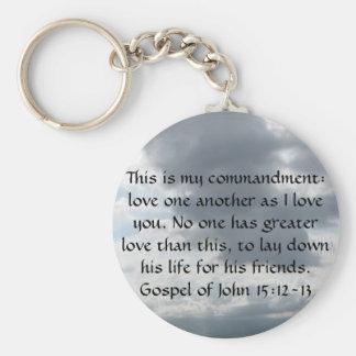 15:12 - 13ヨハネによる福音書 キーホルダー
