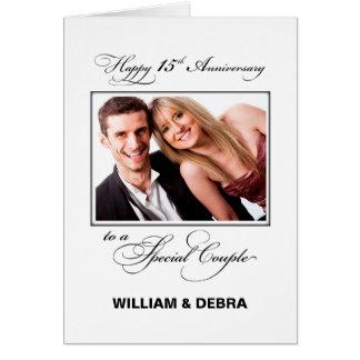 15th Wedding Anniversary Custom Name & Photo カード