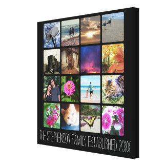 16の丸かどの写真のコラージュかInstagram キャンバスプリント