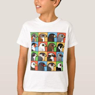 16の北アメリカの猛禽のプロフィール Tシャツ