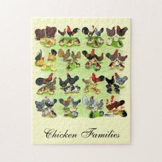 16の鶏家族 ジグソーパズル