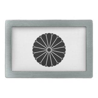 16二重petaled菊 長方形ベルトバックル