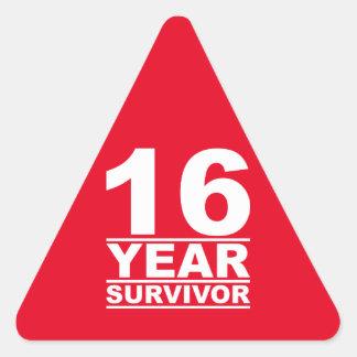 16年の生存者 三角形シール