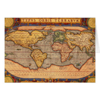 1601年からの世界地図 カード