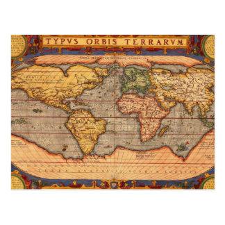 1601年からの世界地図 ポストカード