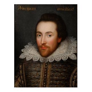 1610年頃ウィリアム・シェイクスピアCobbeのポートレート ポストカード