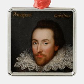 1610年頃ウィリアム・シェイクスピアCobbeのポートレート メタルオーナメント