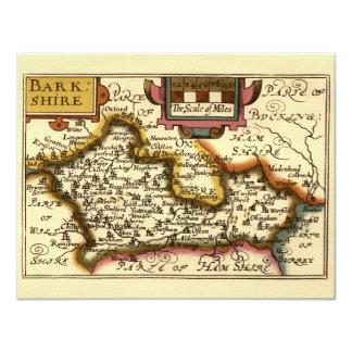 1625年頃ジョンの速度による古い英国郡地図、 カード