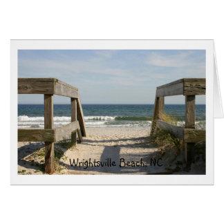 163_6335のWrightsvilleのビーチ、NC カード