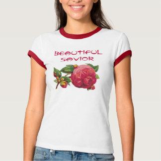 163 ros、有徳の服装LLCの美しい救助者 Tシャツ