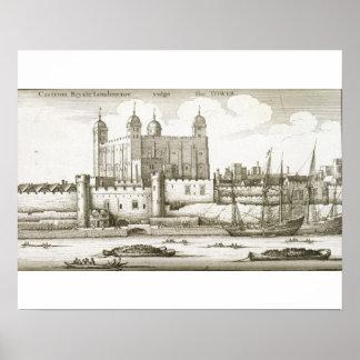 1647年ロンドン塔(版木、銅版、版画) ポスター