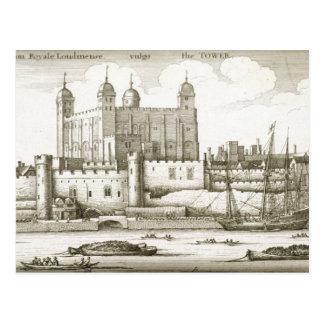 1647年ロンドン塔(版木、銅版、版画) ポストカード