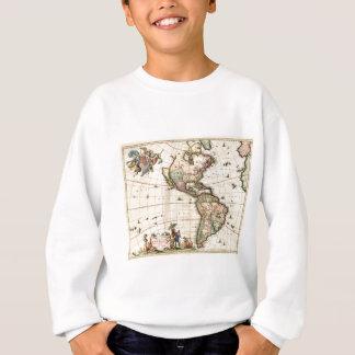 1670年のアメリカの地図 スウェットシャツ